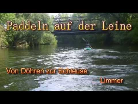 mit dem Kajak durch Hannover. With  kayak through Hanover on River Leine.