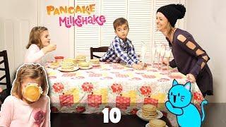 Pancake Milkshake Challenge in Real Life!
