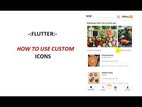 Flutter How To Use Custom Icons Youtube
