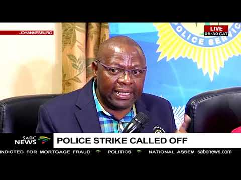 Police strike called off