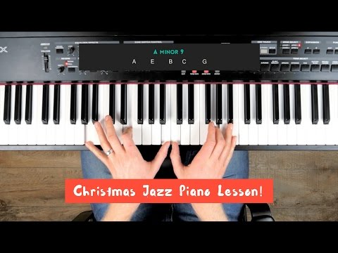 🌲'SILENT NIGHT' JAZZ PIANO LESSON (Christmas tutorial) 🌲