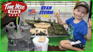 Father and Son Pretend Play Plastic Army Men Bedroom Battle  with Goo Jitzu Masters