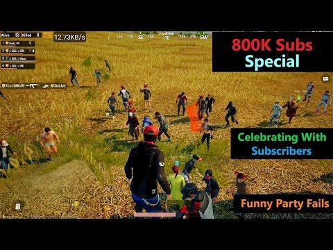 [Hindi] PUBG Mobile | '800K Subs' Special Funny Party Fails