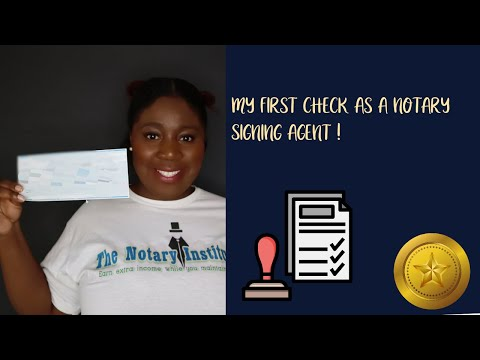 My Very First Check As A Notary Signing Agent