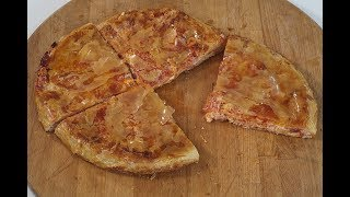pizza on pan