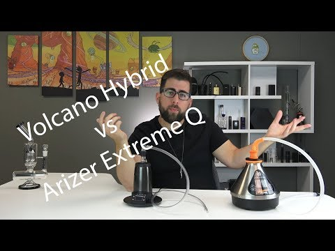 Volcano Hybrid vs Arizer Extreme Q Vaporizer Comparison Review
