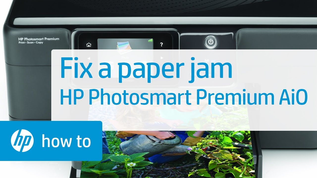 Hp Computer Support >> Fixing a Paper Jam - HP Photosmart Premium All-in-One Printer (C309g) - YouTube