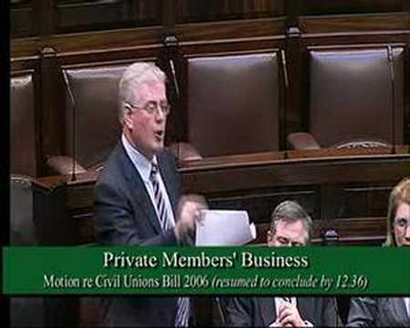 Civil Unions Bill - Eamon Gilmore