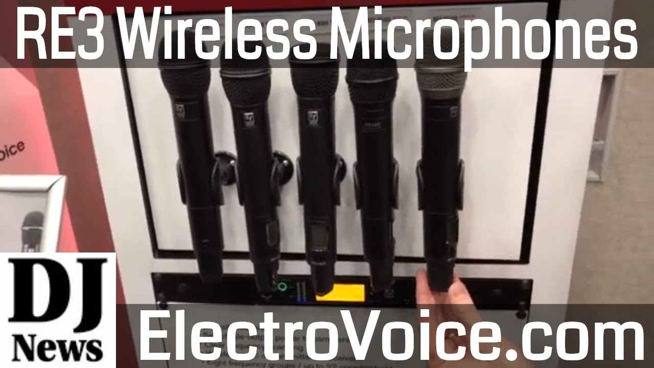 #ElectroVoice RE3 Wireless Microphones Hand Held and Belt Pack Systems |  Disc Jokcey News