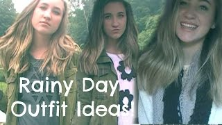 Rainy Day Outfit Ideas!♡ Thumbnail