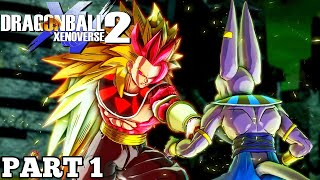 Dragon Ball Xenoverse 2 Gameplay Walkthrough (Part 1) Birth Of A God! Super Saiyan Rose Rycon!