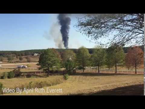 Gas line fire near Helena, Alabama