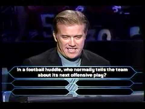 1/2 John Elway on Millionaire (sports superstars ed.)