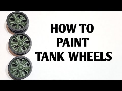 Painting Model Tank Wheels