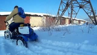 Вездеход-грязеход. Снежные испытания.