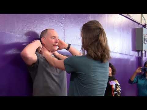 Polson High School students learn self defense techniques