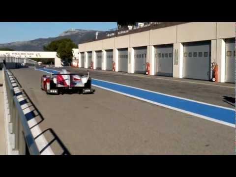 FIA Campeonato do Mundo de Resistência 2012: Toyota TS030 HYBRID em testes no circuito Paul Ricard