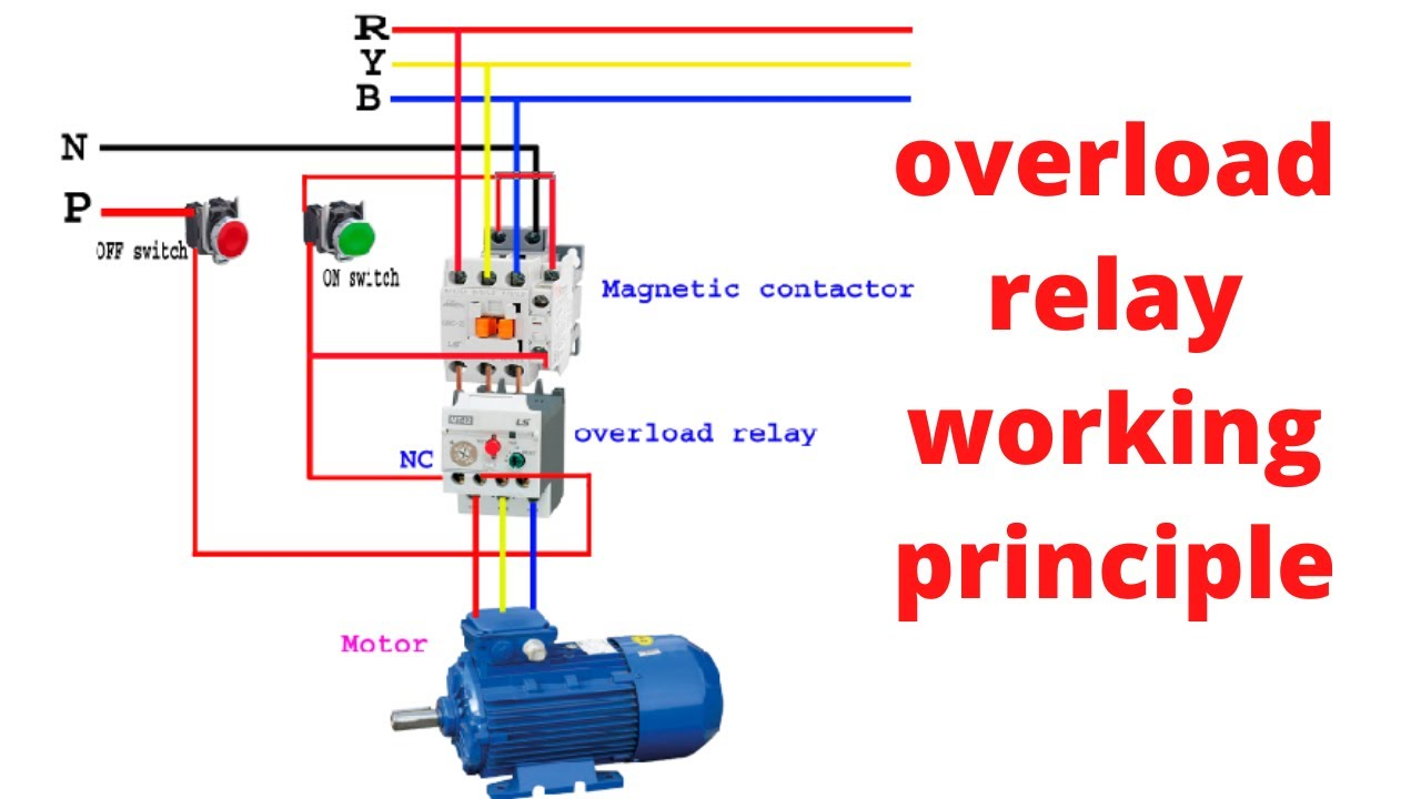 How to work overload relay। overload relay connection। overload relay  working principle. - YouTubeYouTube