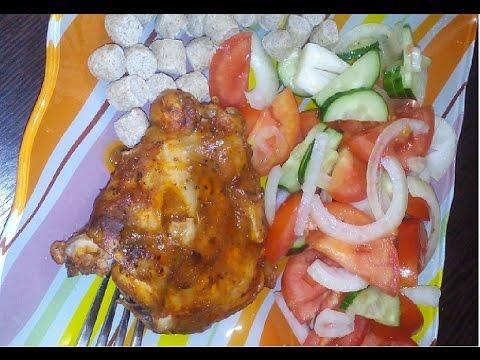Куриные бедра в духовке в лимонном маринаде. Диетический рецепт
