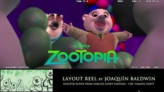 Zootopia Layout Reel  Taming Party Deleted Scene