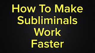 How To Make Your Subliminals, Frequencies, Hypnosis Binaural Beats work Faster & Effective! Part 1