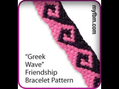 5345e69700e91 Friendship Bracelet Tutorial Greek Wave Pattern-Knot It App