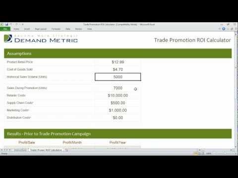Trade Promotion ROI Calculator
