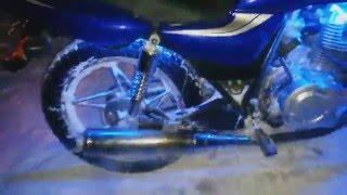 Засаживаем мотоцикл NF -150-8A  в снегу ( Проверка отсечки)