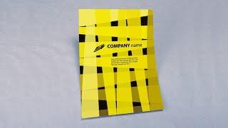 Illustrator tutorial - Vector flyer brochure design template
