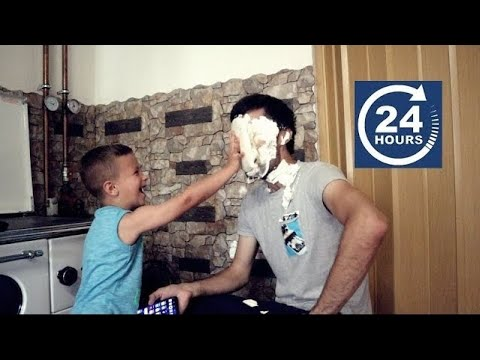 5 YEAR OLD ANNOYING DAD FOR 24 HOURS!