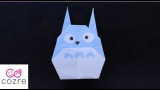 折り紙「中トトロ」の折り方|ジブリ【cozre公式】 thumbnail