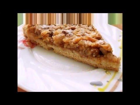 Венгерский ореховый пирог с яблоками кулинарный рецепт с фото