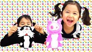 MIme Friends まねっこ人形で遊んだよ♪ おもちゃ himawari-CH
