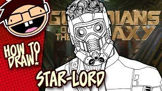 How to Draw STAR-LORD (Guardians of the Galaxy) | Narrated Easy Step-by-Step Tutorial
