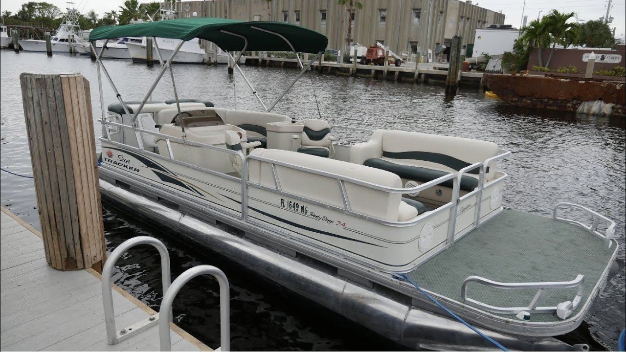 2006 Suntracker 24ft Party Barge For Sale Florida 954 394