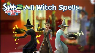 The Sims 2 Apartment Life: All Witch Spells