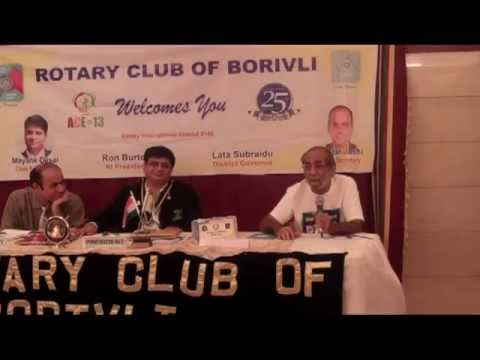 Abid Surti during weekly meeting of Rotary Club of Borivli on 11th July, 2013