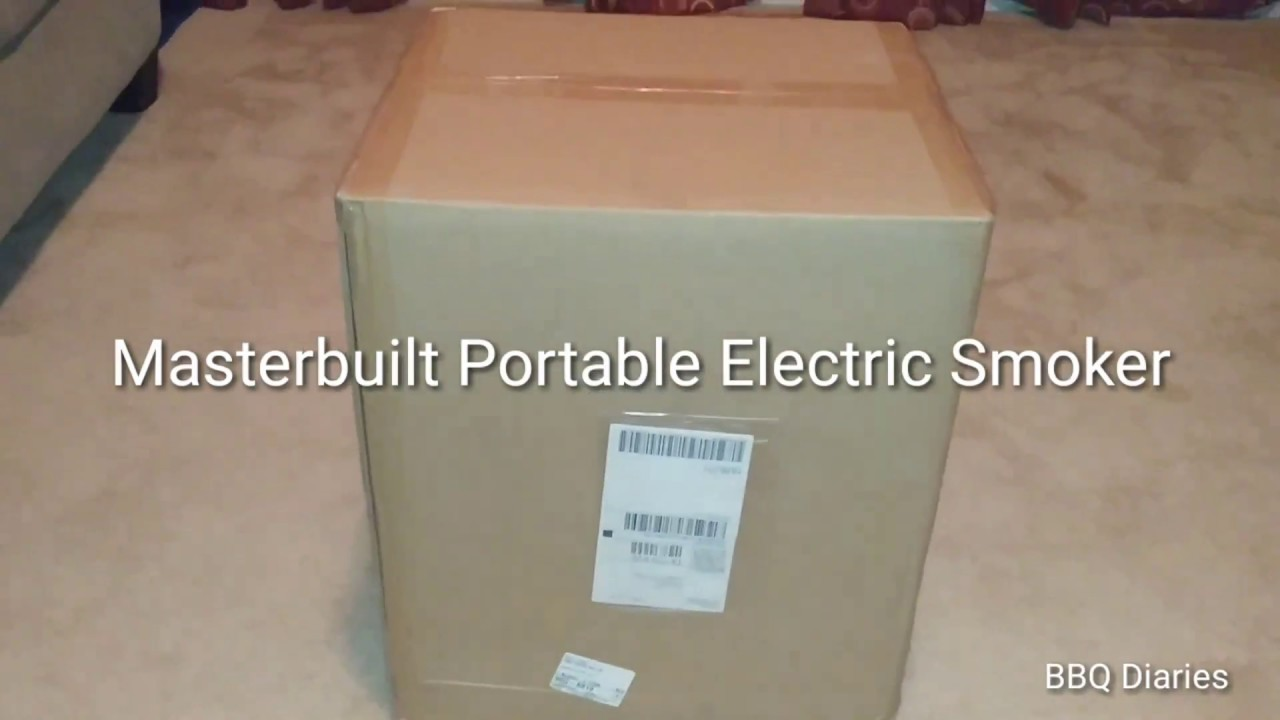 Unboxing Masterbuilt 2 Rack Patio Amp Portable Electric