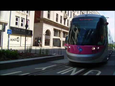 Midland Metro  Birmingham on street running  May and June 2016