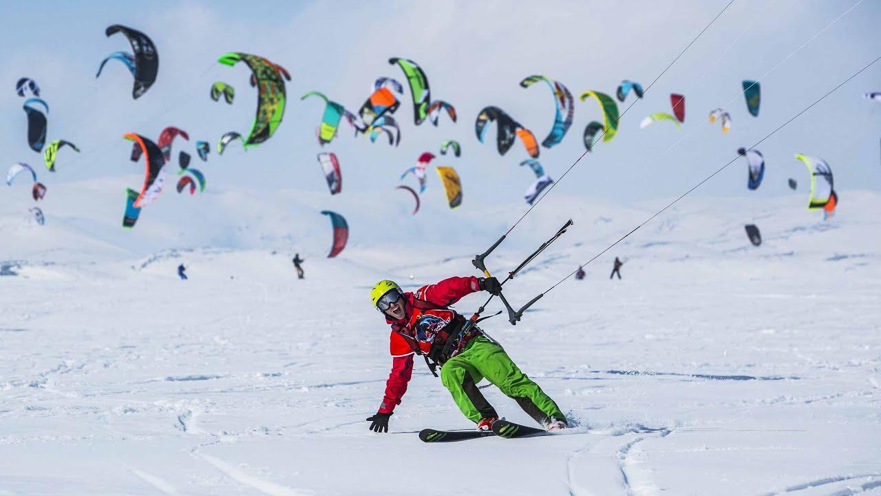 World's Biggest Snowkite Race - Red Bull Ragnarok