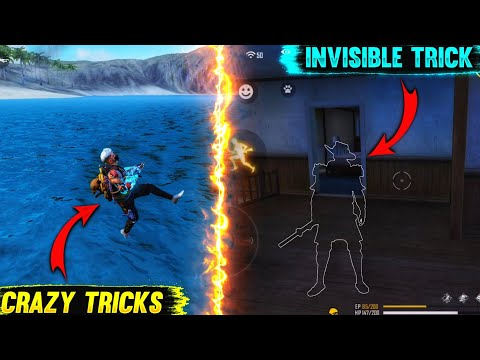 Download Top 5 New Unknown Tricks in free fire    funny Running & invisible Trick in Garena free fire