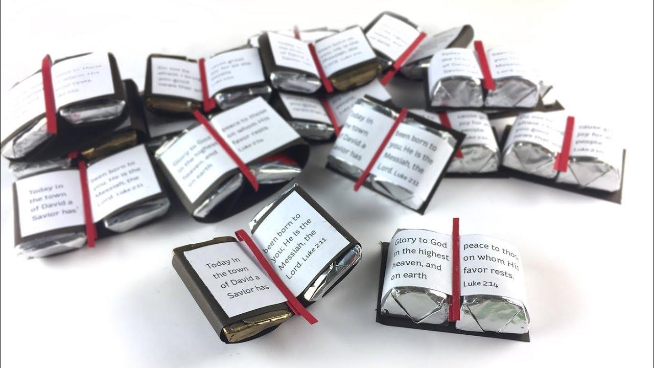 Christmas Bible Craft 6: Chocolate Bibles!