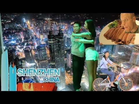 EXPLORING SHENZHEN.. AT NIGHT!💃🏻 Amazing Future City! Nightlife, Sky Bar View & Street Food CHINA