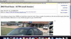 Local Craigslist Used Cars for Sale - YouTube
