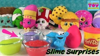 Slime Surprises #2 Hidden Toys | Shopkins Play-Doh MLP Squinkies | PSToyReviews