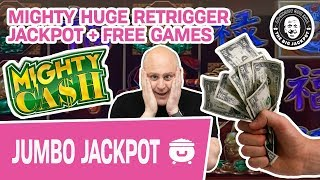 💪 MIGHTY HUGE Retrigger JACKPOT 🍯 + Free Games! Mighty Cash Slots