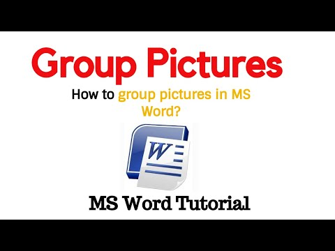 how to group pictures in ms word | Group Images Word | latest