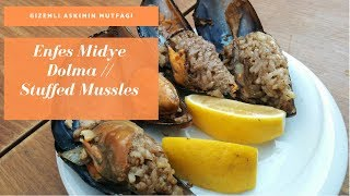 Enfes Midye Dolma Tarifi / Stuffed Mussels Recipe