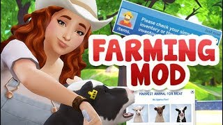 MY FIRST FARM ANIMAL 🚜🐮 | THE SIMS 4 // FARMING MOD