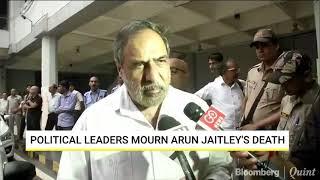 Political Leaders Mourn Arun Jaitley's Death
